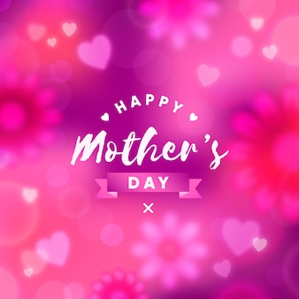 Blurred mother's day wallpaper
