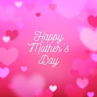 Blurred mothers day concept
