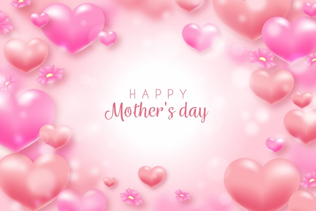 Blurred mothers day theme