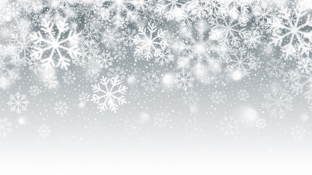 Blurred motion falling snow effect abstract background