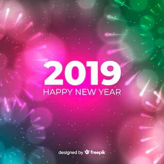 Blurred new year 2019 background