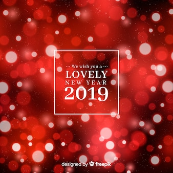Blurred new year 2019 background