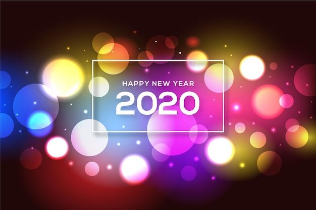 Blurred new year 2020 background