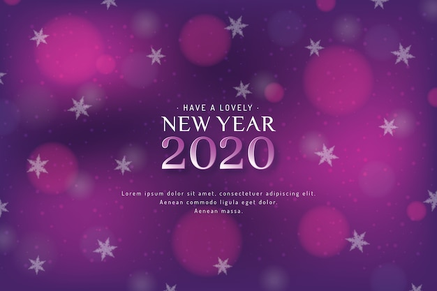 Blurred new year 2020 background