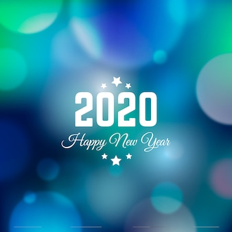 Blurred new year 2020
