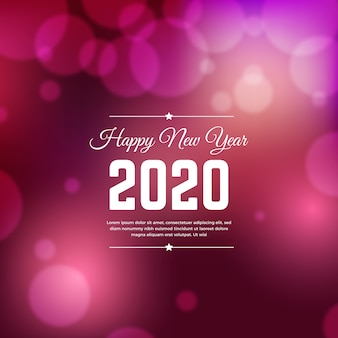 Blurred new year 2020