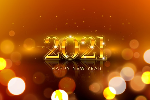 Blurred new year 2021 background