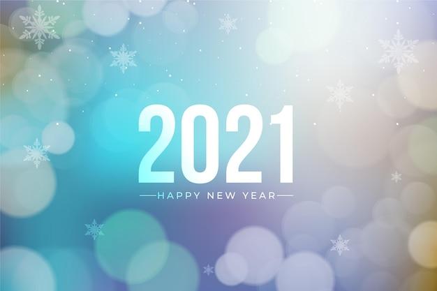Blurred new year 2021 background