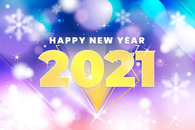 Sfondo sfocato nuovo anno 2021