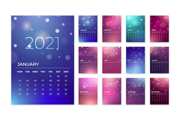 Размытый календарь нового года 2021
