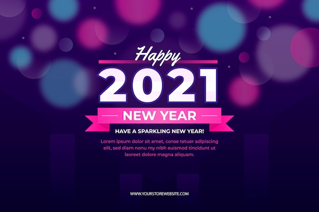 Blurred new year 2021
