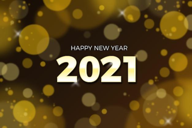 Blurred new year 2021