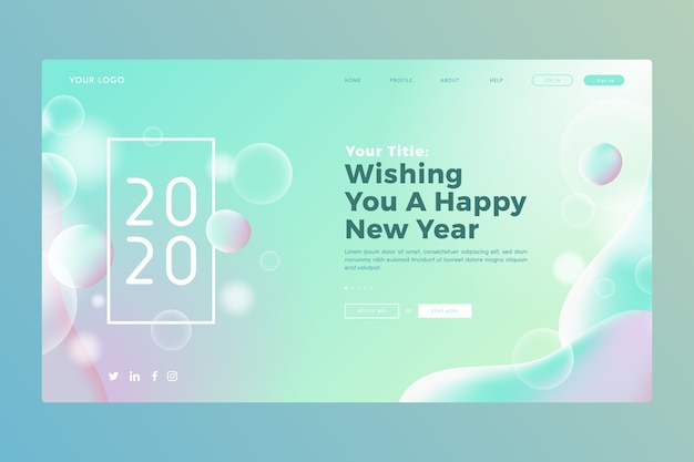 Blurred new year landing page
