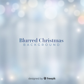 Blurred silver christmas lights background