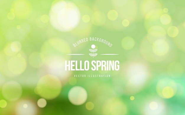 ぼやけた春背景コンセプト