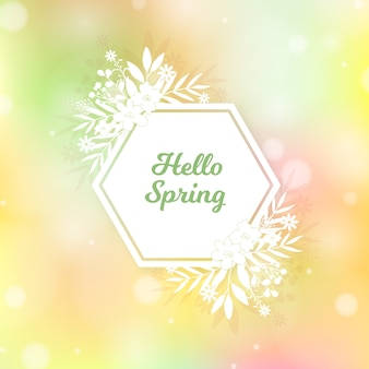 Blurred spring background design
