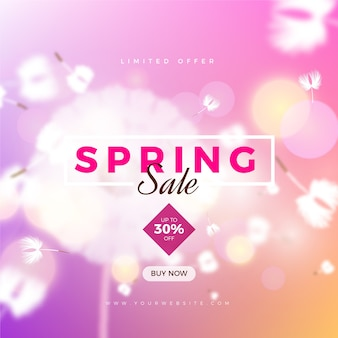 Blurred spring promotional sale