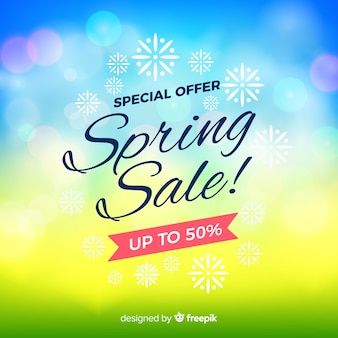 Blurred spring sale background