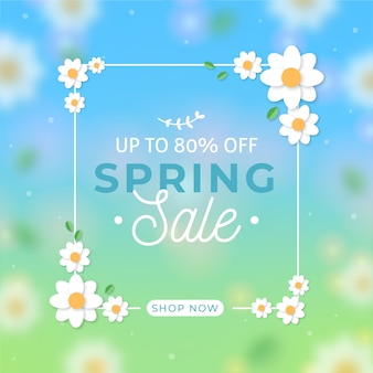 Blurred spring sale background