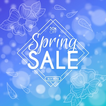Blurred spring sale banner