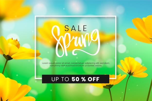 Blurred spring sale concept