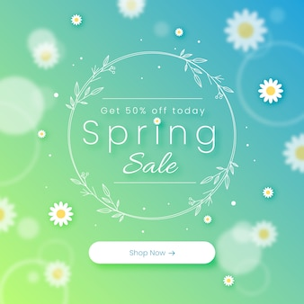 Blurred spring sale concept