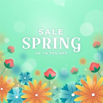 Размытое изображение весенней распродажи с цветами