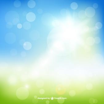 Blurred springtime background