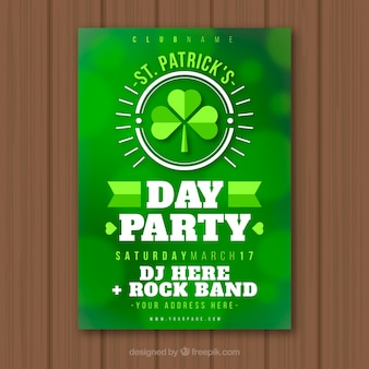 Blurred st. patrick's day flyer / poster template