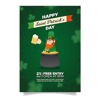 Blurred st. patrick's day flyer template