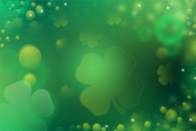 Blurred st. patrick's day wallpaper