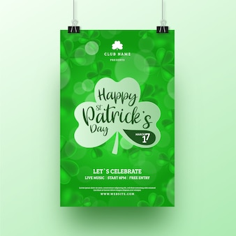 Blurred st. patricks day flyer template