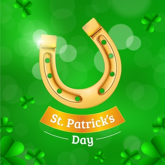 Blurred st. patricks day  horseshoe concept