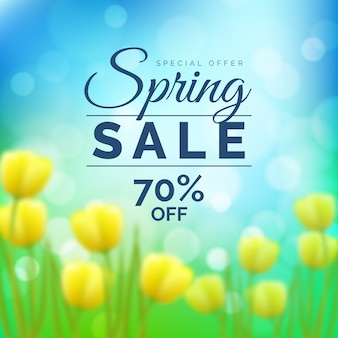 Blurred theme for spring sale