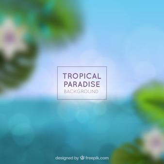 Blurred tropical paradise