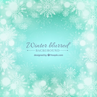 Blurred turquoise winter background