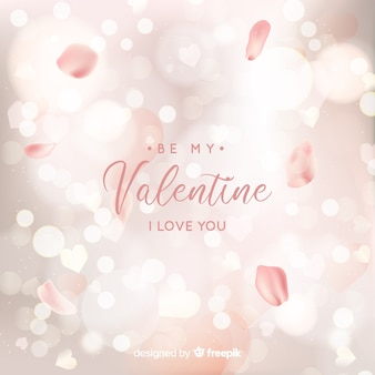 Blurred valentine background