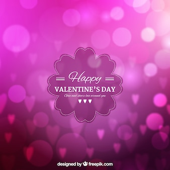 Blurred valentine's day background in fuchsia