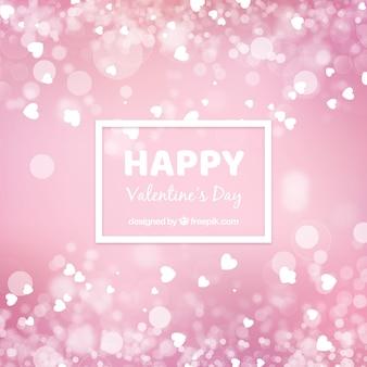 Blurred valentine's day background in pink