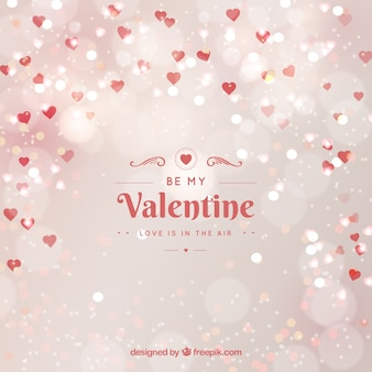 Blurred valentine's day background in white