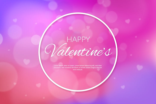 Blurred valentine's day background with bokeh effect