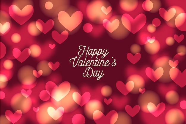 Blurred valentine's day background