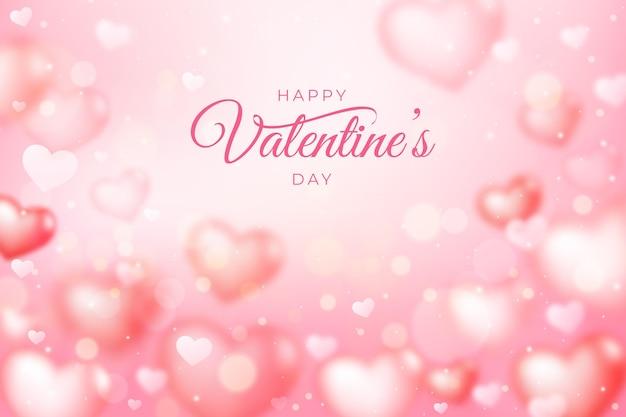 Blurred valentine's day background