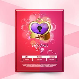 Blurred valentine's day flyer