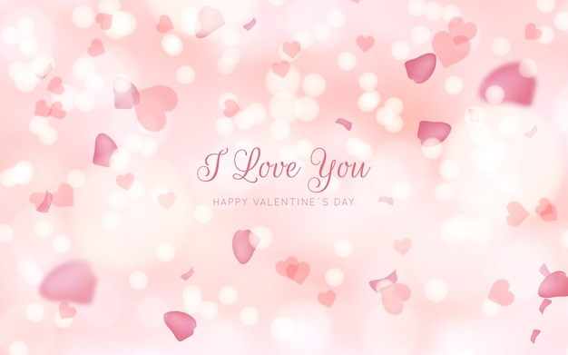 Blurred valentine's day pink background