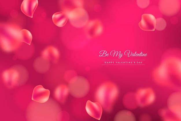 ぼやけたバレンタインデーの壁紙