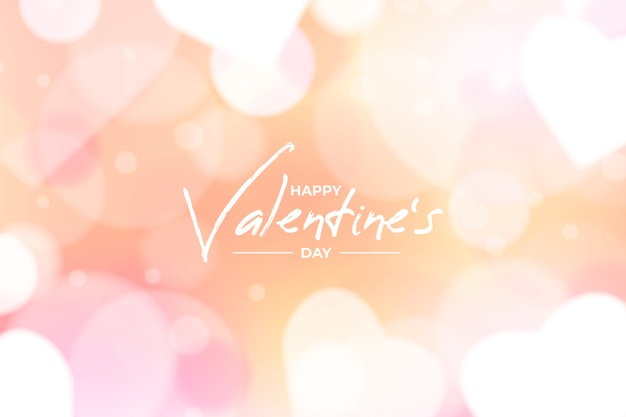 Blurred valentines day background concept