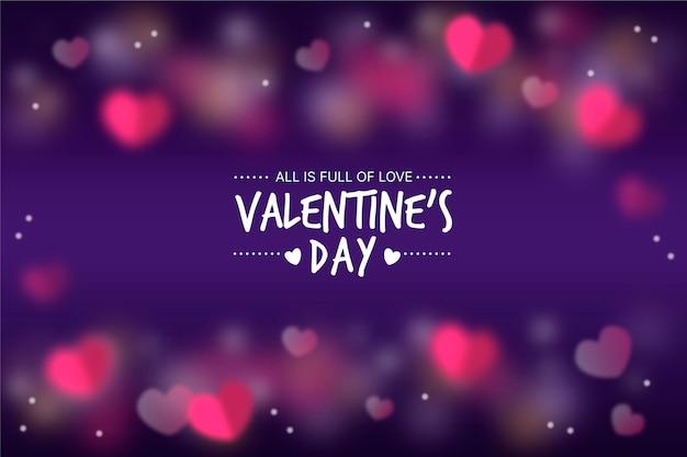 Blurred valentines day background