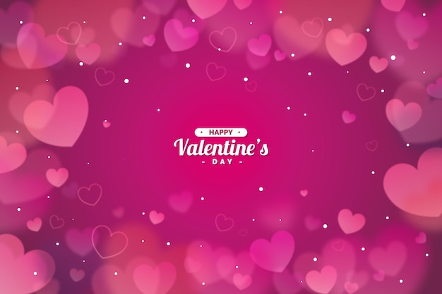 Размытый фон дня святого валентина