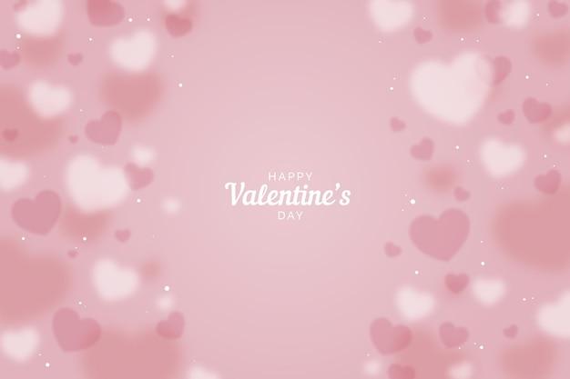 ぼやけたバレンタインデーの背景